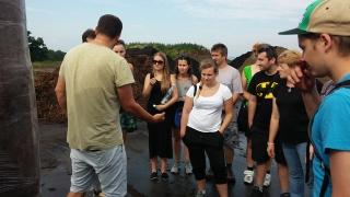 Studenti ČZU na Kompostárně Jarošovice
